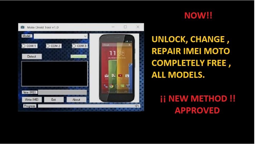 Change IMEI Motorola – Lenovo Program Online